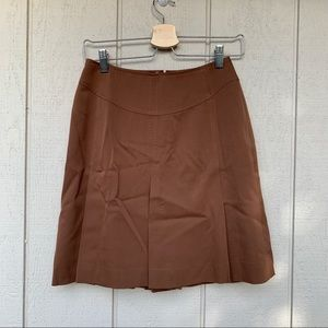 Escada Brown Virgin Wool Mini Skirt NWT